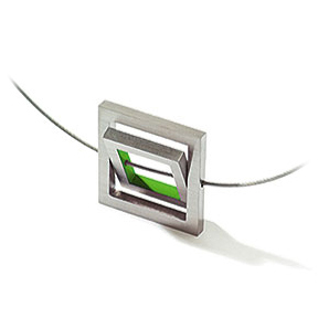 Contemporary Jewelry, Accessories, Home Decor|SHOP OUTofGRAY :  necklace spinning squares colors green resin