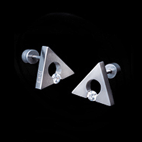 Out Of Gray Triangle Tension Earrings