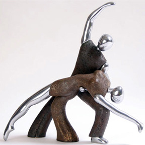 Out of Gray - Dancers Sculpture Modern Figure Home DecorAccent