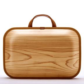 Out of Gray - Monacca Bag Kaku Wood Briefcase/Laptop Case Mocha Modern