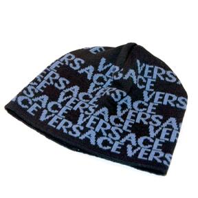 235ea2e5c62af Out of Gray - Modern Designer Accessories - Versace Blue Logo Skull Hat