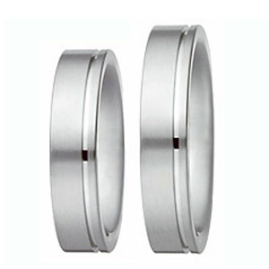 Out of Gray Xen Fidelity Modern White Gold Elegant Wedding Ring